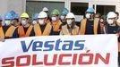 Los trabajadores de Vestas, frente al Parlamento