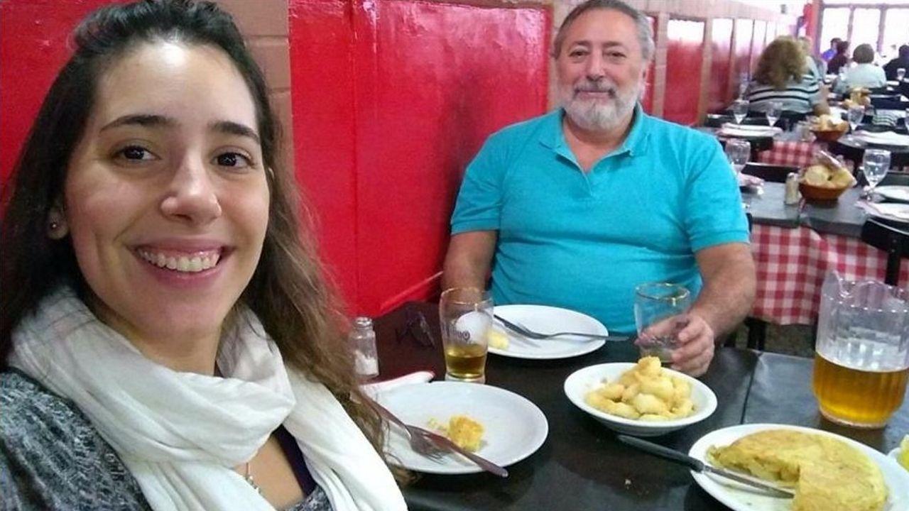 Rafael Cuadrado y su hija Martina regresaron al paí hace siete años tras emigrar a Galicia