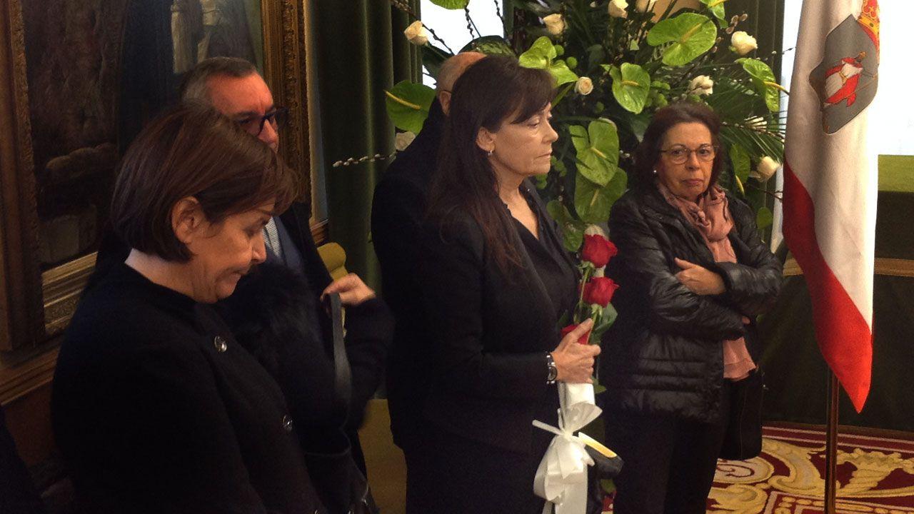 El emotivo homenaje de Soledad Saavedra a Tini Areces.Areces, durante su comparecencia
