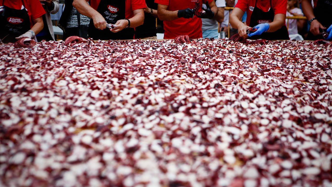 Los vecinos de O Carballiño logran cortar 500 kilos de pulpo en 11 minutos.Stefan Litt muestra uno de los cuadernos con dibujos de Kafka