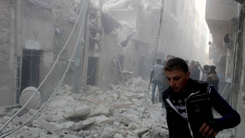 Alepo, tras los bombardeos