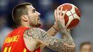 El jugador madrileño durante el encuentro entre España e Irán el pasado día 5