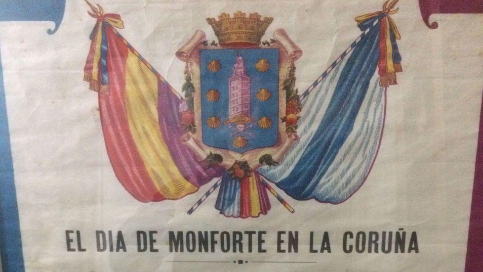 Estampas del hermanamiento de Monforte y A Coruña en 1935.Cercas habló de su obra en Londres y el festival Hay del Reino Unido
