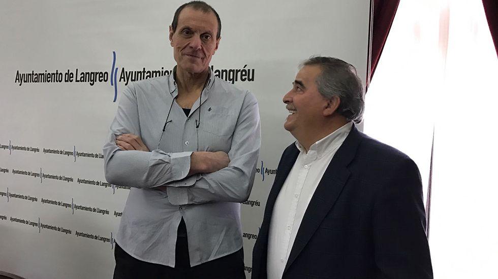Anibal Vázquez (alcalde Mieres) y Jesús Sánchez (alcalde de Langreo)