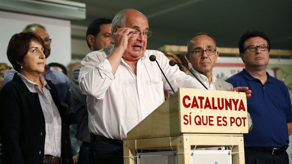 El candidato de Catalunya Sí que es Pot, Lluís Rabell. La formación sufre un batacazo y solo consigue ser la cuarta fuerza con 11 escaños