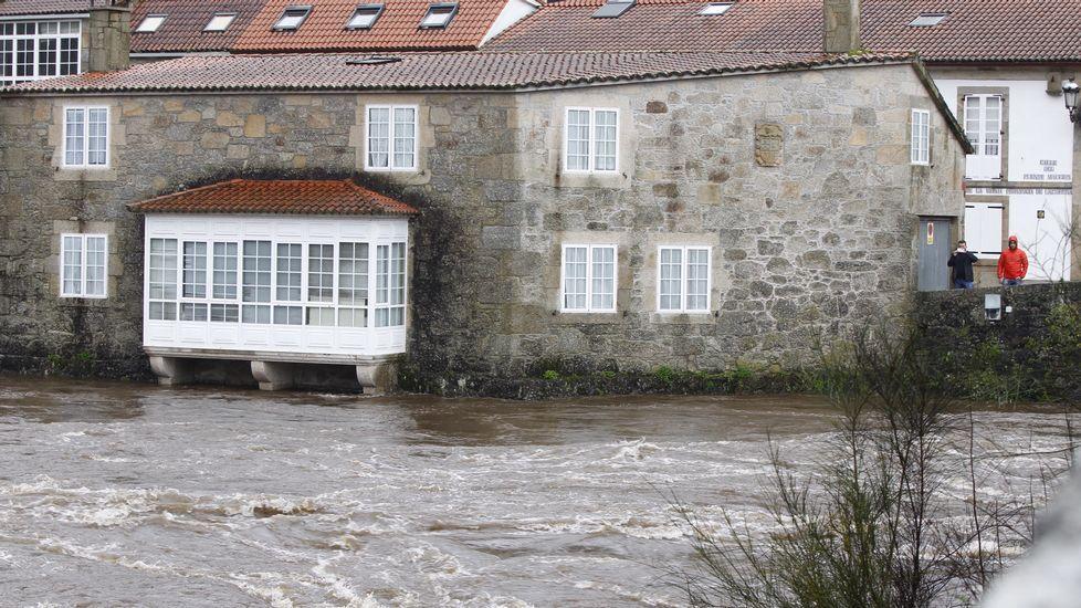 El río Tambre en Ponte Maceira, en Negreira.