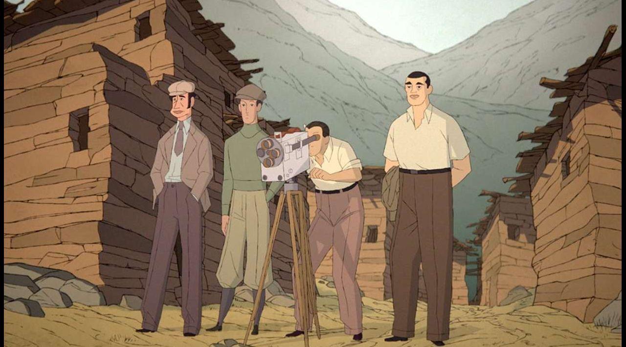 Fotograma del filme «Buñuel en el laberinto de las tortugas»