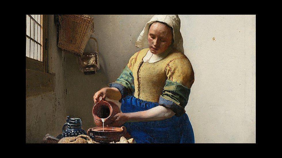«La lechera» (1660-1661), óleo de Johannes Vermeer van Delft, Rijksmuseum, Ámsterdam