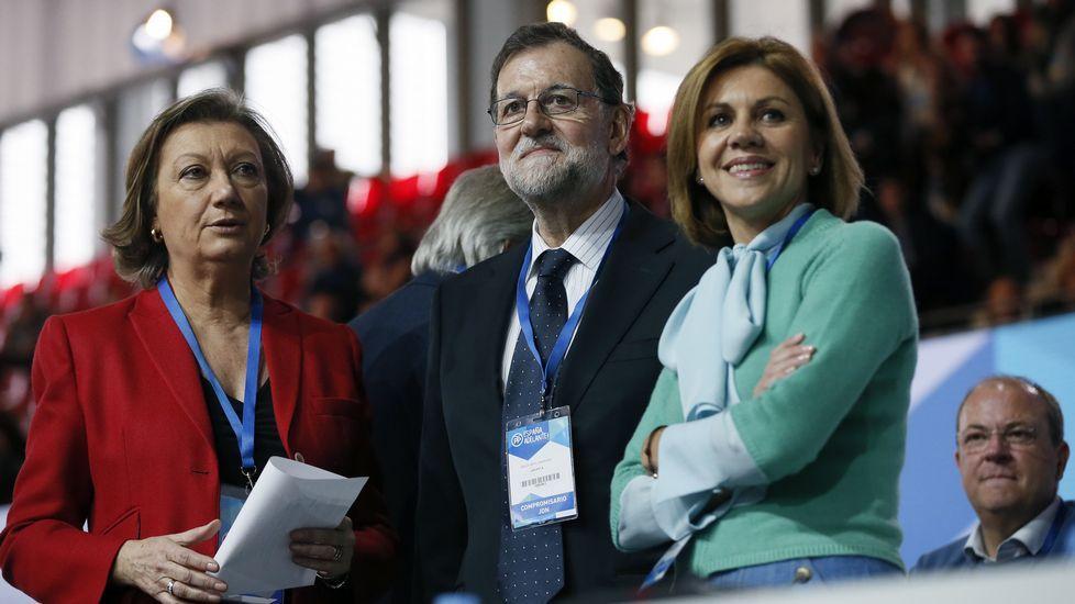Luis Fernanda Rudi, Rajoy y María Dolores de Cospedal.