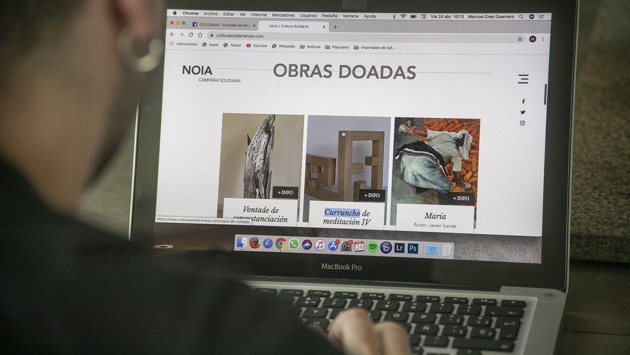 El impacto de más de seis semanas de confinamiento en familias y empresas de Santiago.Concello de Lugo y Cruz Roja colaboraron para habilitar el pabellón municipal como refugio temporal para personas sin hogar