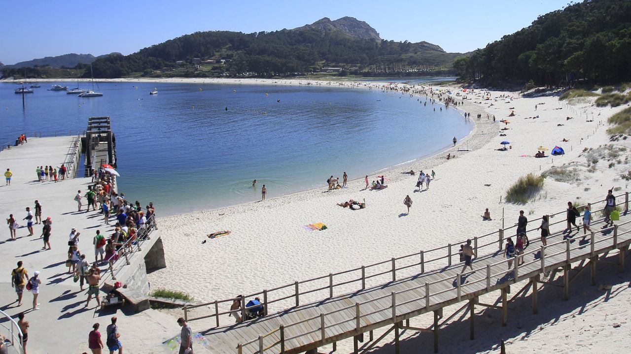 Playa de Rodas, en las Cíes