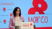 La presidente de la Comunidad de Madrid, Isabel Díaz Ayuso, durante un acto celebrado hoy