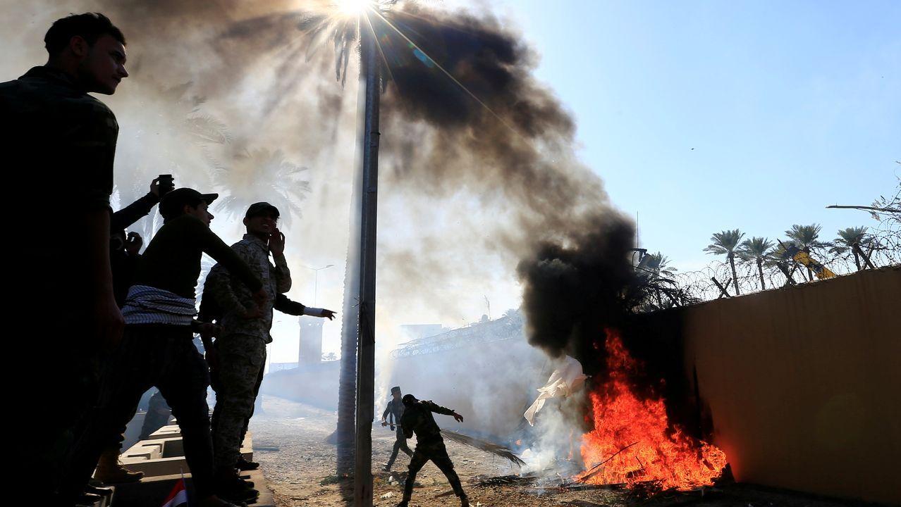 Máxima tensión en Irán.Imagen del vídeo protagonizado por Joaquín