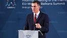 El presidente del Gobierno, Pedro Sánchez, este miércoles durante la cumbre Unión Europea-Balcanes en Eslovenia.