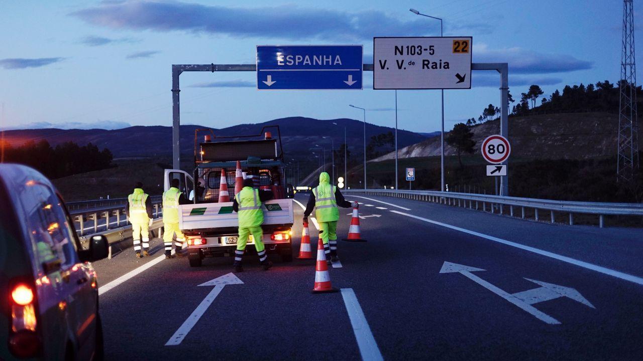 Control en la frontera de Galicia con Portugal
