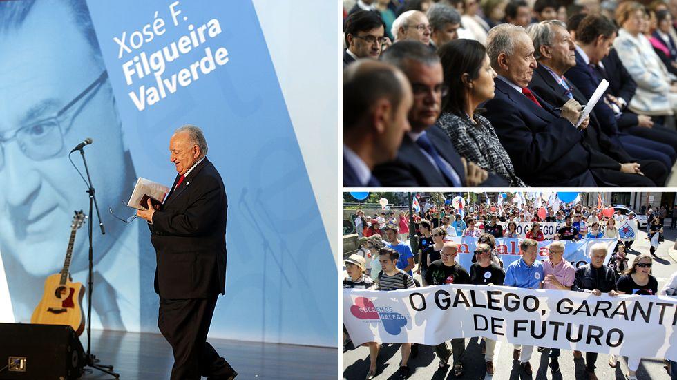 <span lang= gl >O día das Letras Galegas en imaxes</span>.Según el PP, el acto sectorial con mujeres reunió a 600 participantes.