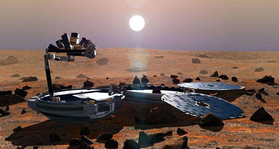 Philae en el momento en el que separó de Rosetta