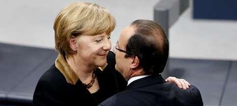 Día Internacional de la Mujer: «One Woman», a Song for UN Women.Merkel y Hollande prometieron llevar propuestas para una mayor integración europea a la cumbre de la UE en mayo.