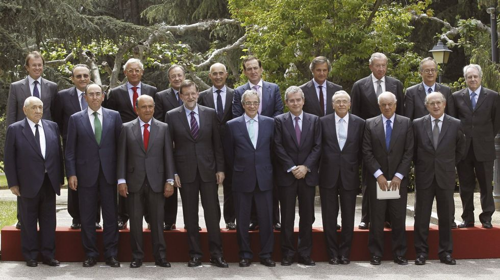 Obras en la variante de Pajares.Reunión de los empresarios del Consejo de Competitividad en La Moncloa, en mayo del 2015