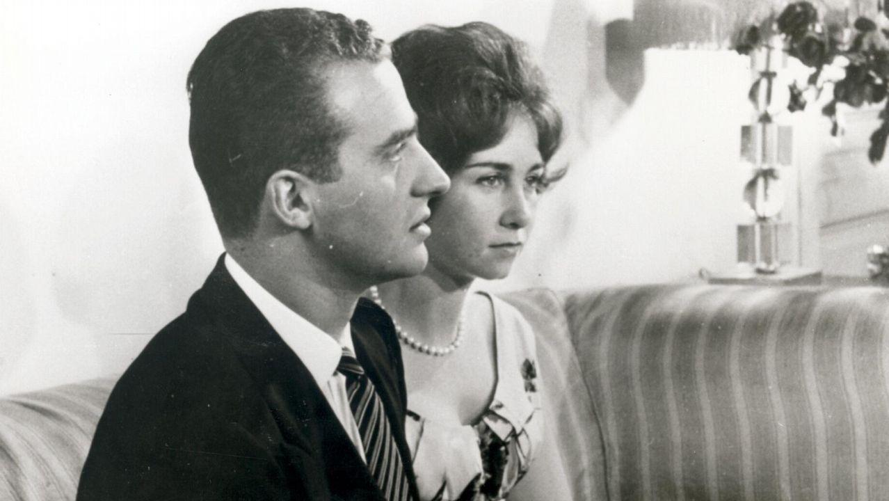 Imagen tomada en Atenas en 1962, pocos días antes de su boda
