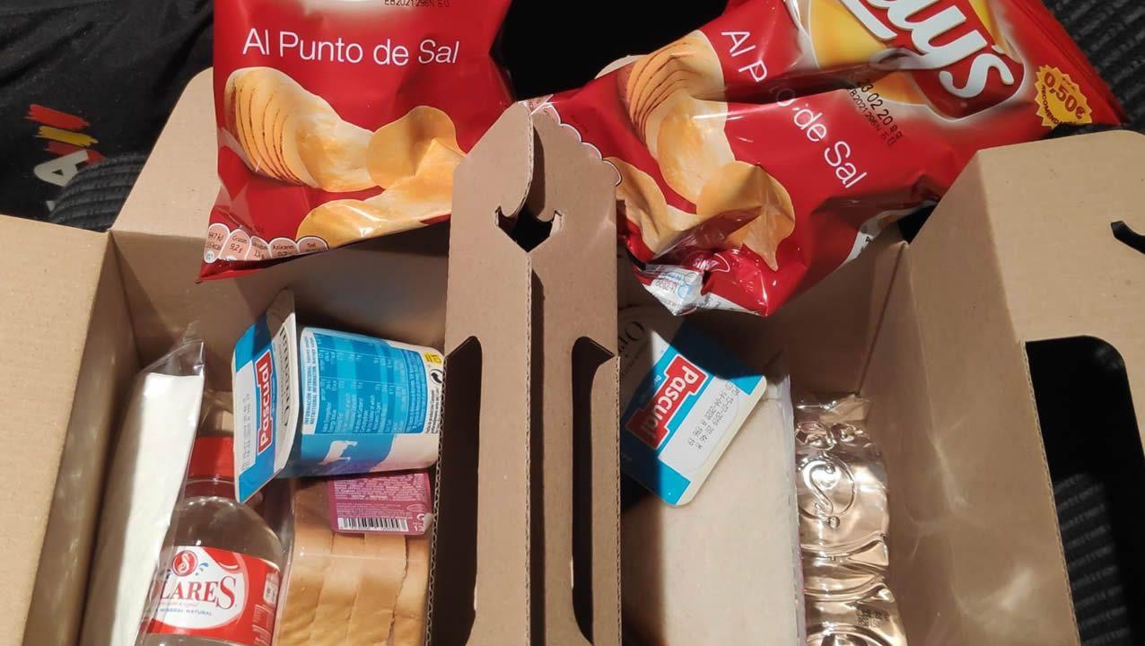Los productos que componen la alimentación de los policías gallegos en Cataluña