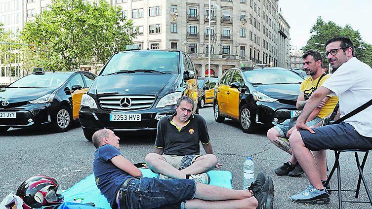 En Barcelona volvieron a atascar el centro