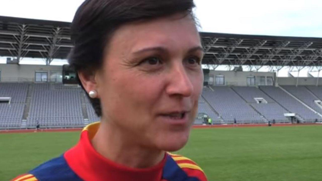 Toña Is, la entrenadora de la selección de fútbol femenina sub-17