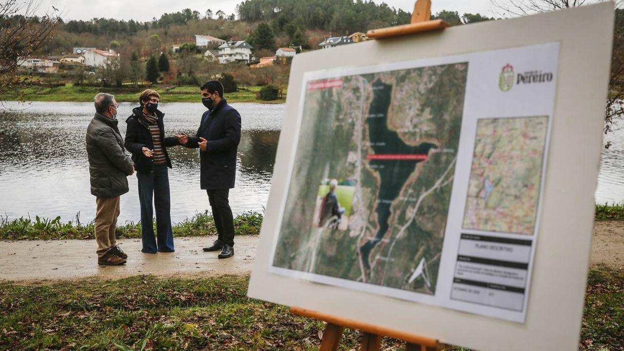 Nava Castro visitó el embalse de Cachamuíña, donde se ubicará el proyecto