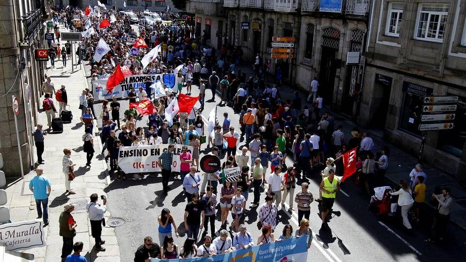 Acto reivindicativo del BNG en la Plaza del Obradoiro