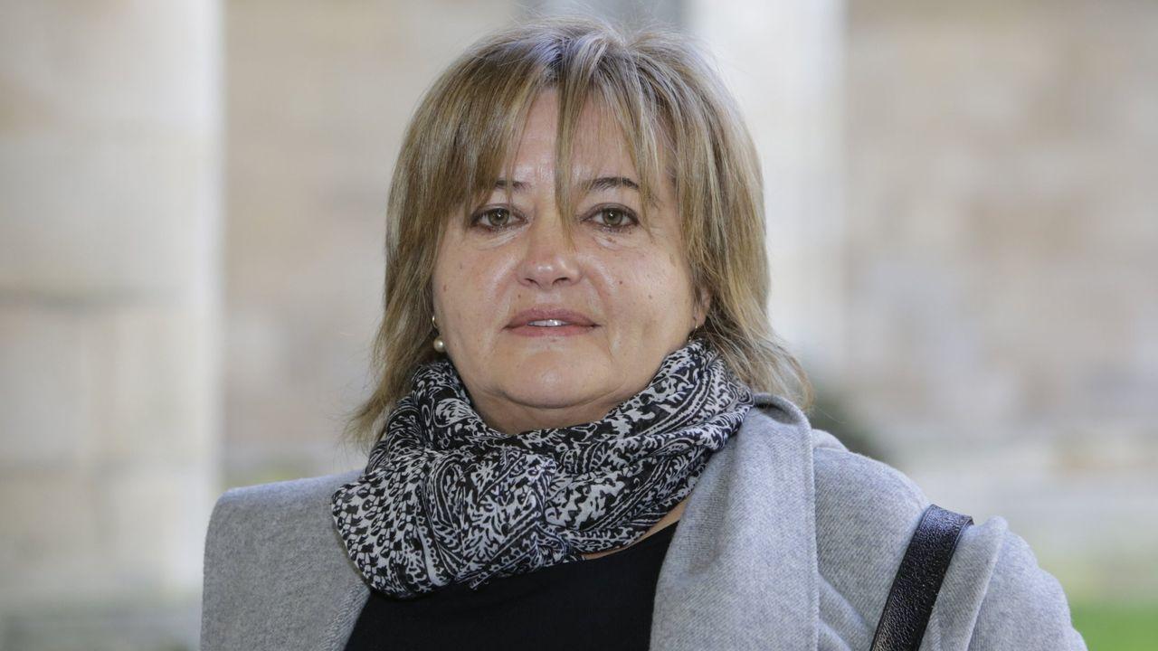 Ambiente en la moción de censura de Castrelo de Miño.Teresa Barge, alcaldesa