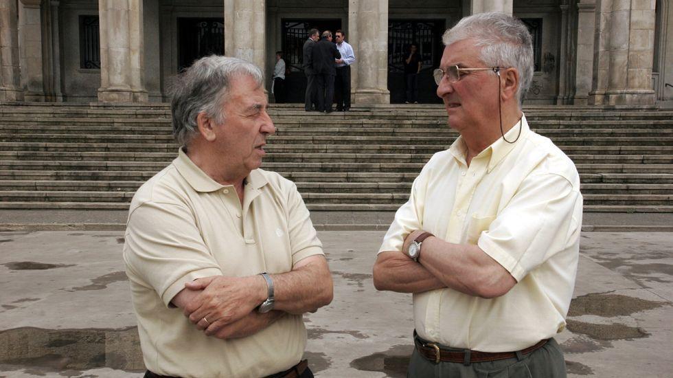 Miramontes junto al exalcalde socialista Manuel Couce Pereiro, con quien compartió dos gobiernos de coalición
