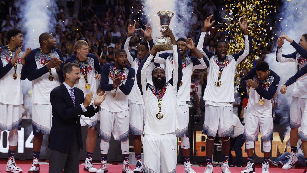 Final del Mundial de Baloncesto 2014 celebrada en España. Estados Unidos ganó a Serbia.