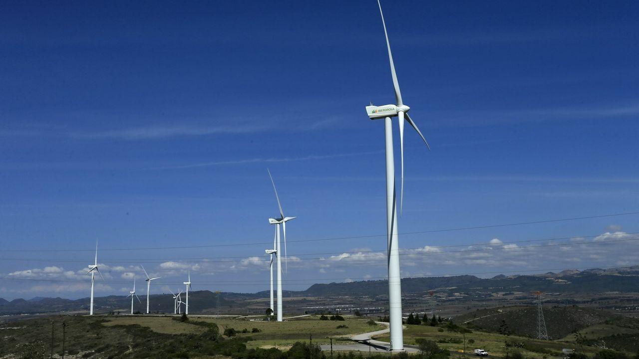 Parque eólico de la compañía Iberdrola en la localidad mexicana de Esperanza