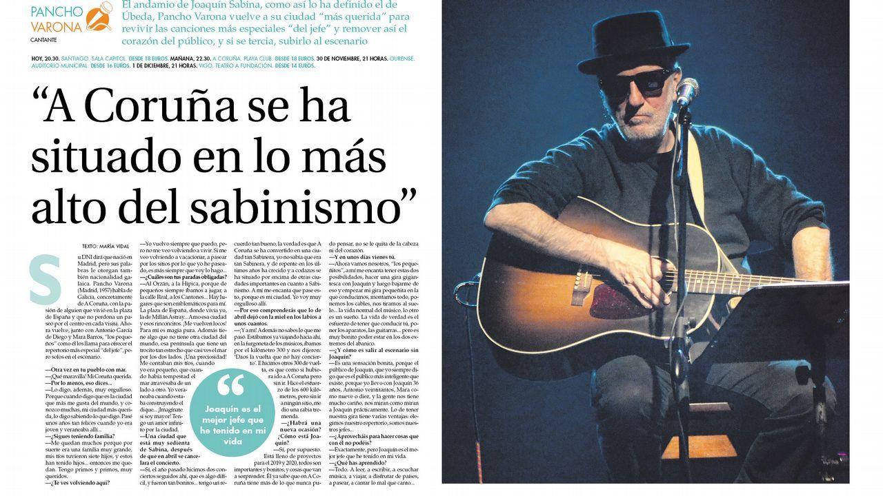 Pancho Varona inicia una gira por Galicia
