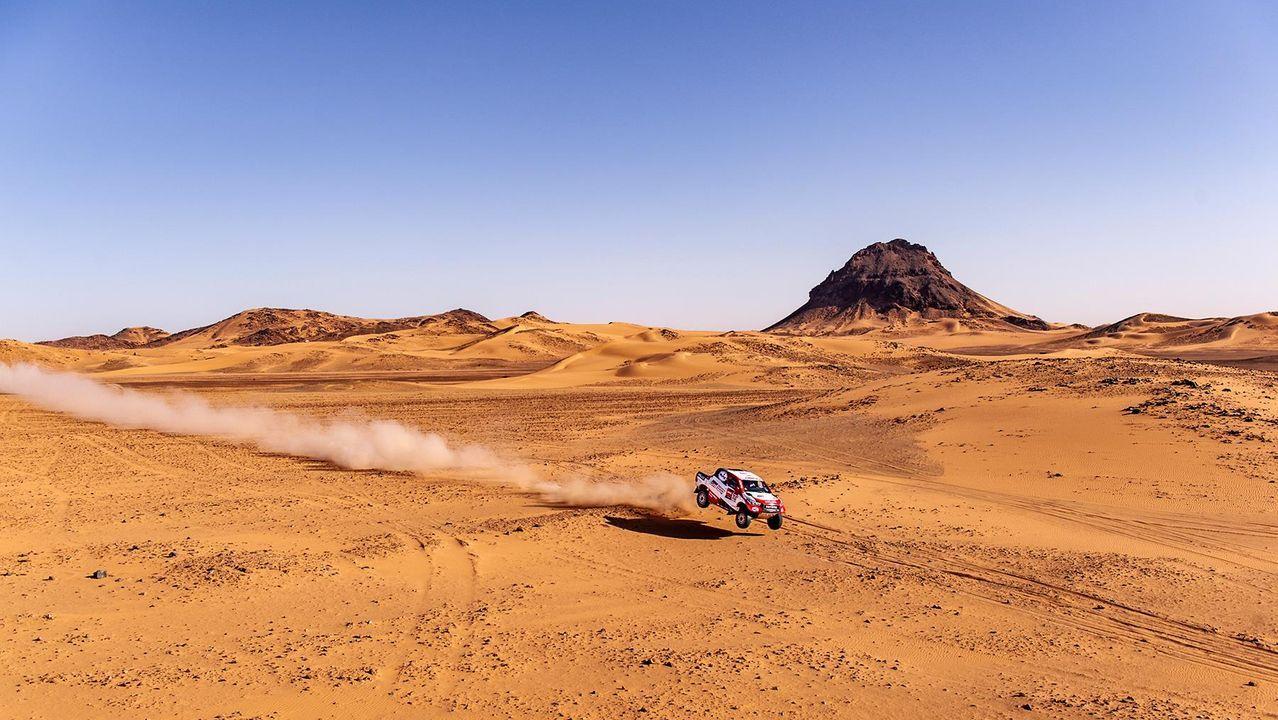 El coche de Fernando Alonso en el Dakar