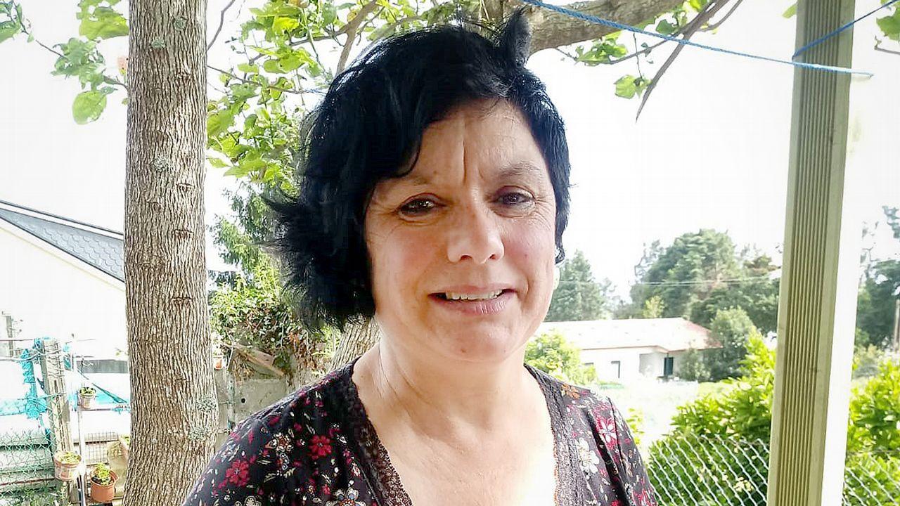 Andatón del colegio Bayón 2019.Pontón, junto a Ana Miranda, candidata a las europeas, y el miembros del Bloque de Barbanza