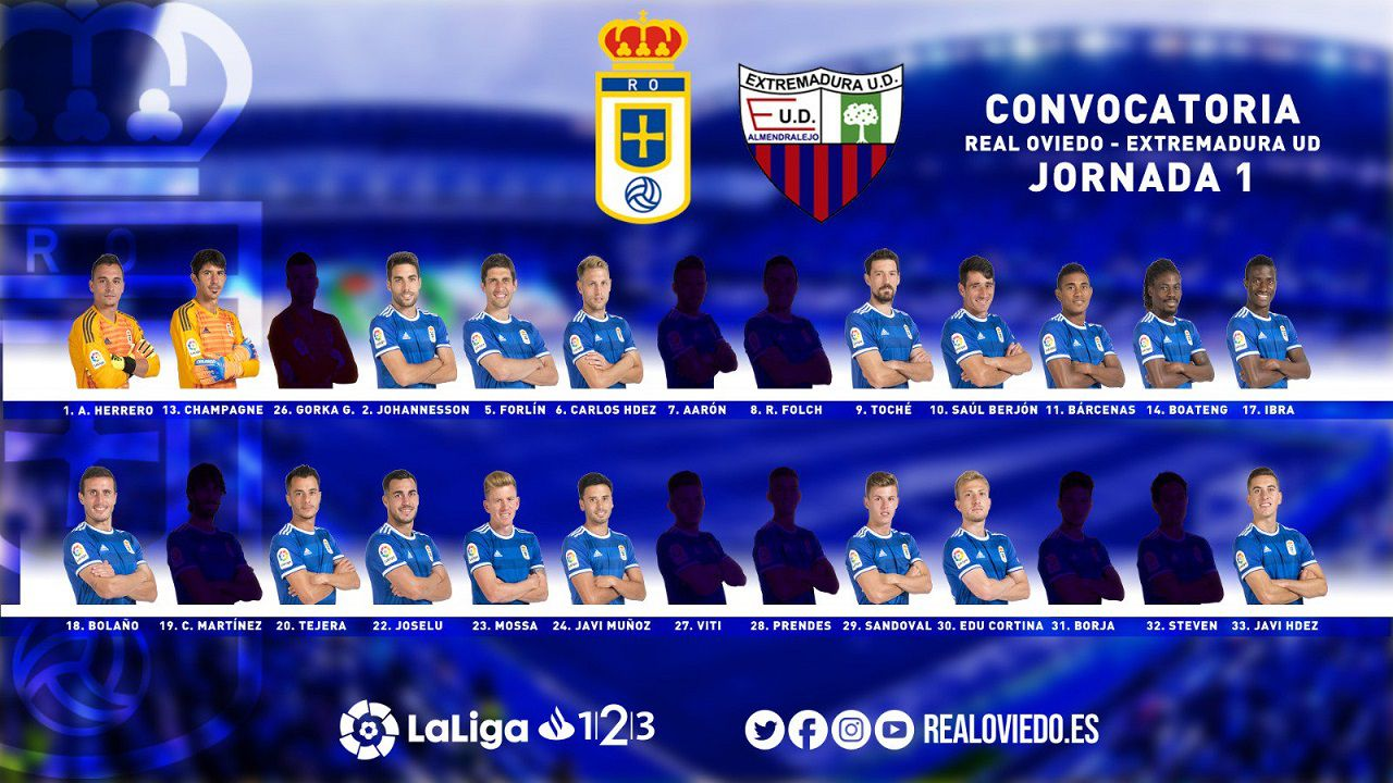 gol Fabbrini Cordoba Real Oviedo.Convocatoria del Real Oviedo para el partido ante el Extremadura UD
