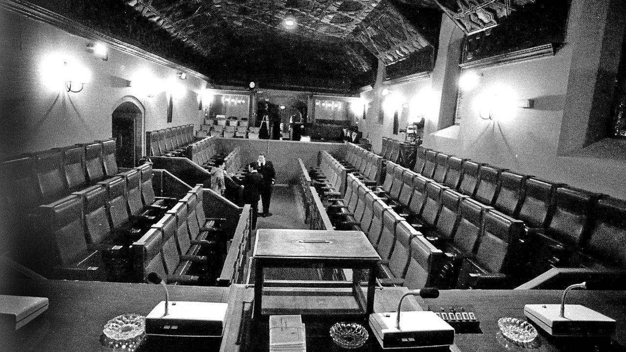 O pazo de Fonseca, cando se converteu na sede do Parlamento tras mudarse de Xelmirez