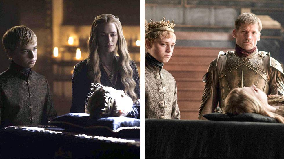 El funeral de los dos hijos de Cersei