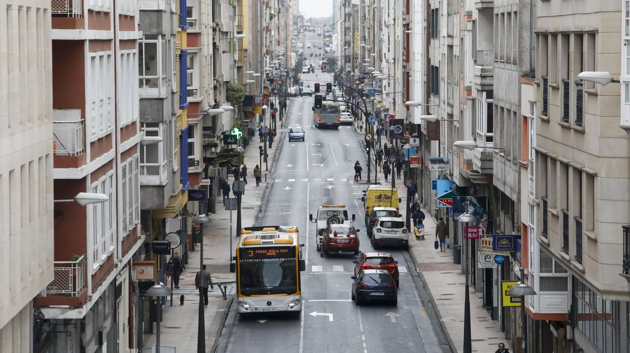 La lucense Avenida da Coruña