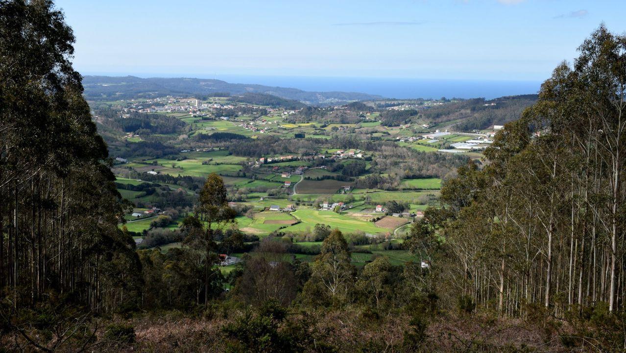 Vistas desde el mirador de Santa Marta, en A Laracha