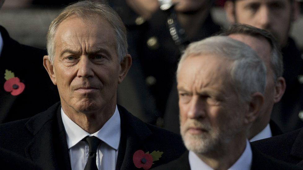 Tony Blair y Jeremy Corbyn