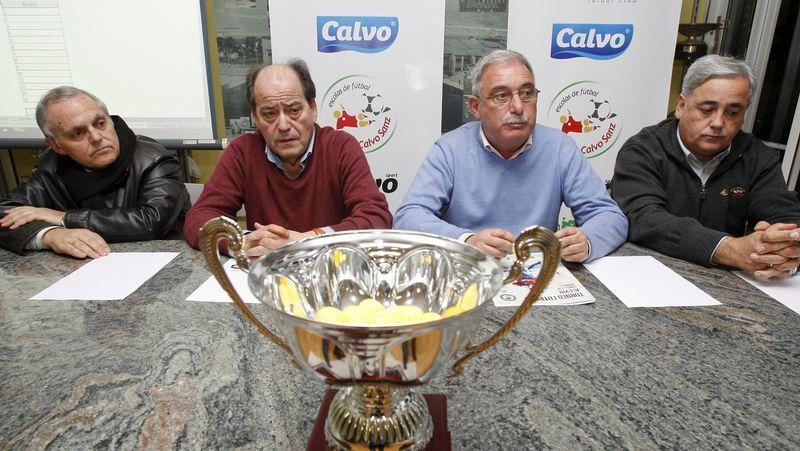 Villamisar, Calvo, Pichel y Cendán, ayer en As Eiroas.