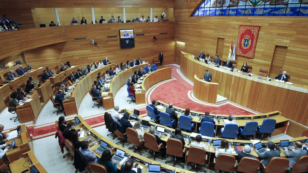 Así arrancó la undécima legislaturagallega.Miguel Santalices y Corina Porro en un acto en Vigo en el 2017