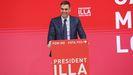 El presidente del Gobierno, Pedro Sánchez, en un acto telemático de campaña del PSC para las elecciones catalanas del 14F
