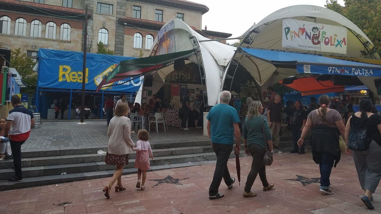Chiringuitos de San Mateo en la plaza Porlier