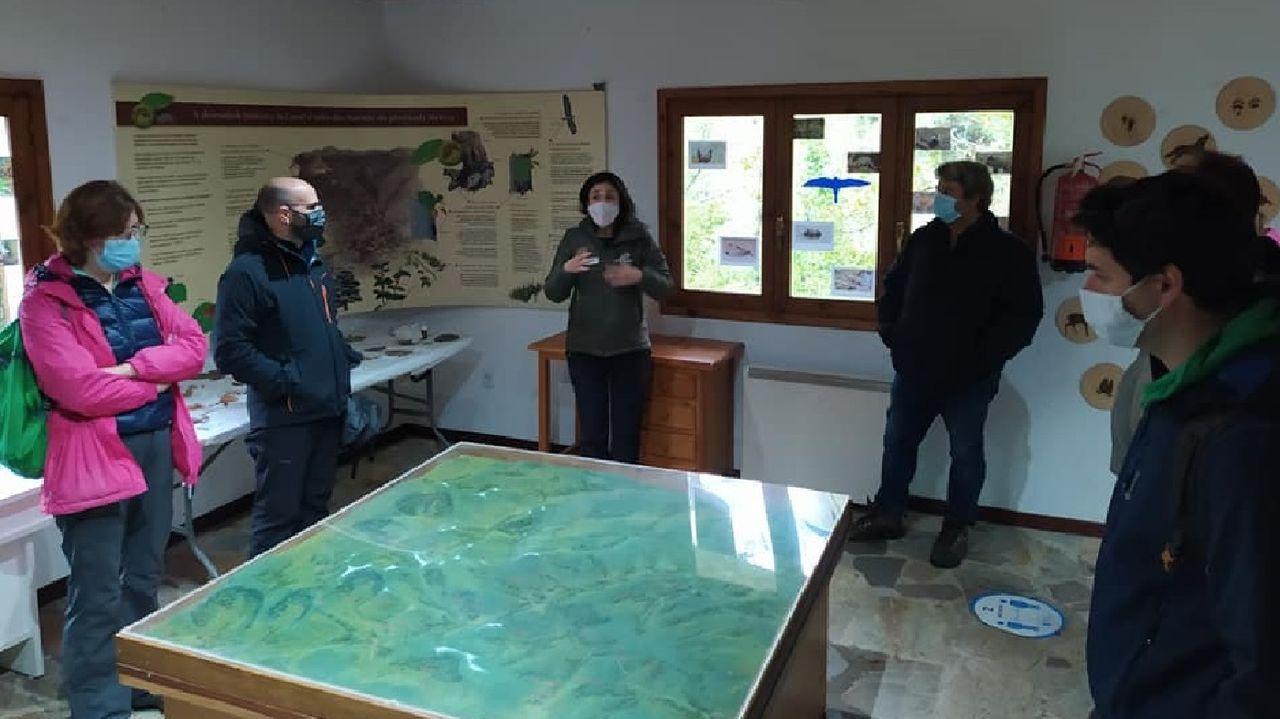 Un grupo de visitantes en el Aula da Natureza de Moreda el pasado octubre