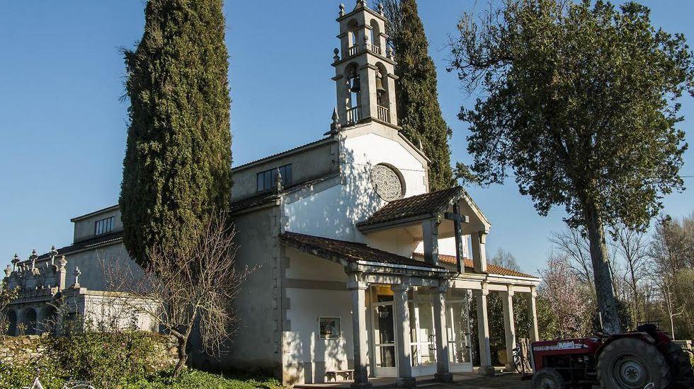 La nevada sobre Madrid, a vista de pájaro.Iglesia y cementerio parroquial de Distriz, en el que están enterrados Manuel Rodríguez de Blaboa y su esposa, Luisa Francisca Abdalar