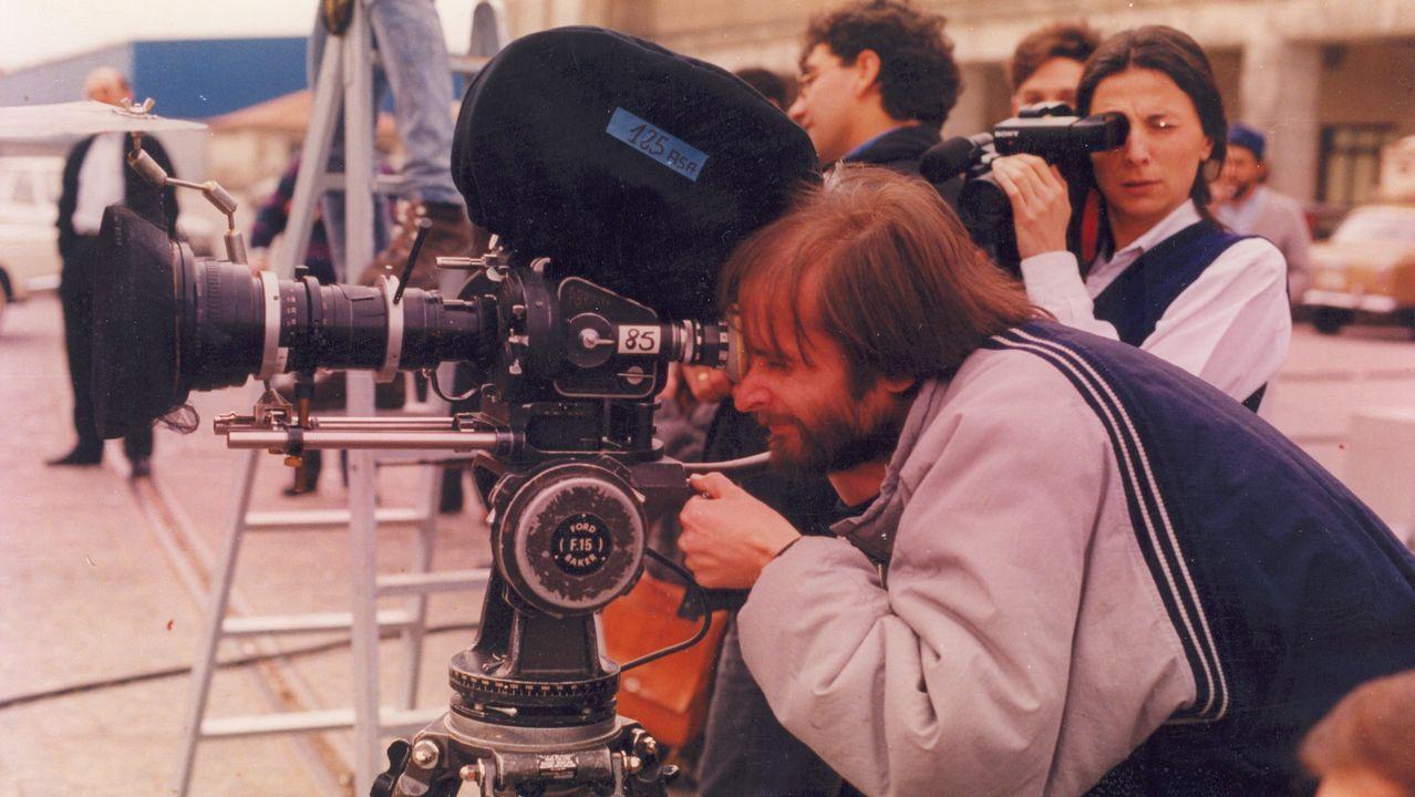 Imagen de la grabación del documental en Laza