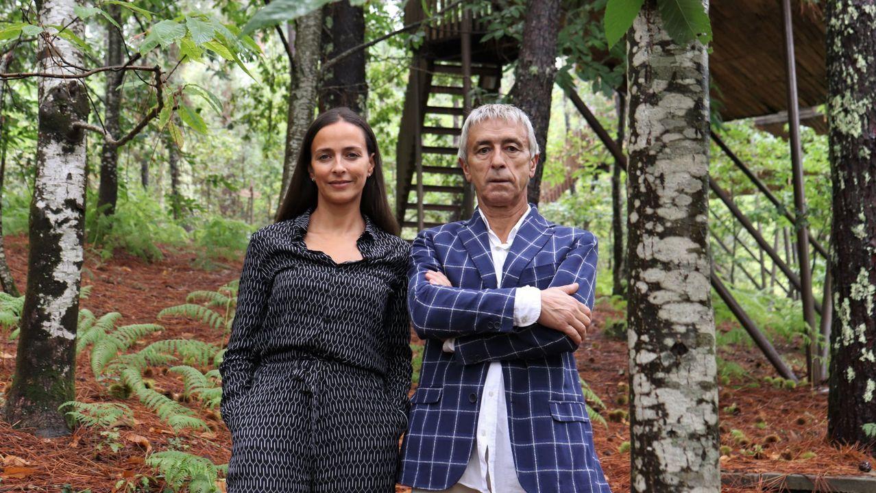 hoteles, maletas, turistas, Asturias.Renata y Manuel Lema regentan Cabañitas del Bosque